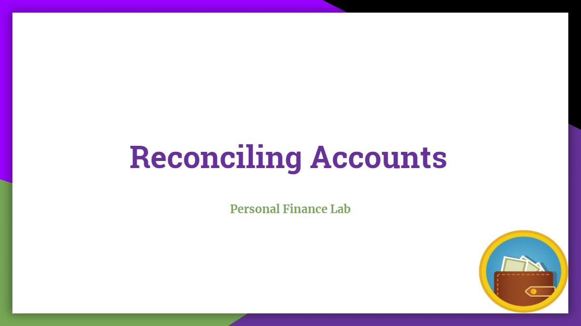 reconcile accounts